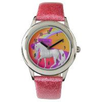 Pretty White Unicorn Wristwatch