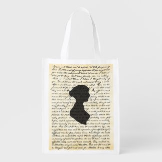 Pride and Prejudice Jane Austen Reusable Bag Reusable Grocery Bags