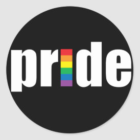Pride Black Sticker