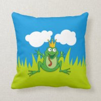 Frog Prince Pillows - Decorative & Throw Pillows | Zazzle
