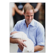 Prince William Holding Newborn Son 2 Cards