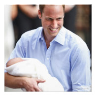 Prince William Holding Newborn Son 2 Invites