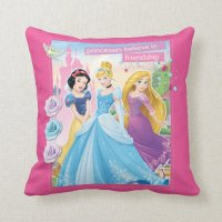 Princess Believe in Frinedship 2 Pillows | Zazzle