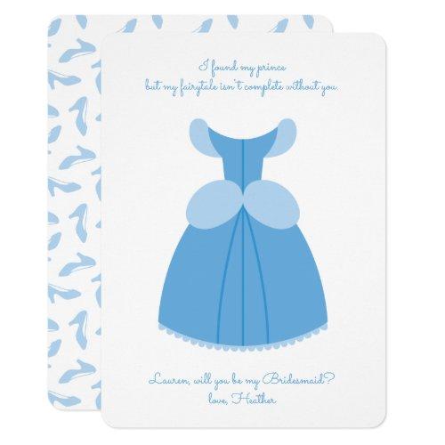 Princess Cinderella | Will You Be My Bridesmaid? Invitation