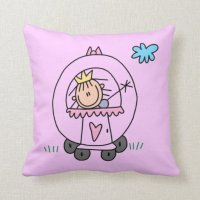 Princess in Carriage Pillow | Zazzle