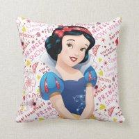 Princess Snow White Throw Pillow | Zazzle