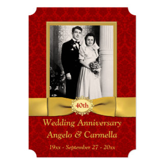 Happily Ever Ruby Anniversary Party Invitations