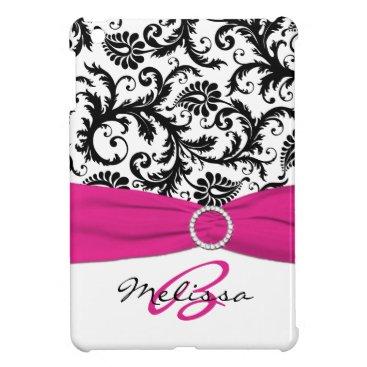 PRINTED RIBBON Pink Black Damask iPad Mini Case