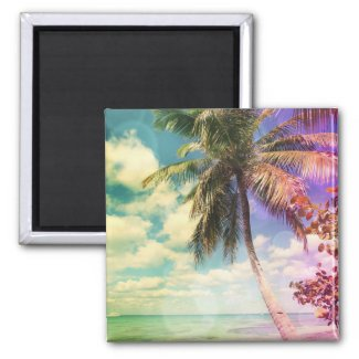 Prismatic Palm 2 Inch Square Magnet
