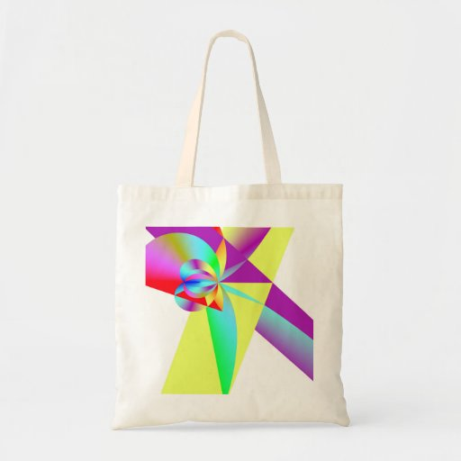 Prismatic Rainbow Budget Tote Bag