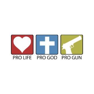 Pro Life, Pro God, Pro Gun zazzle_button