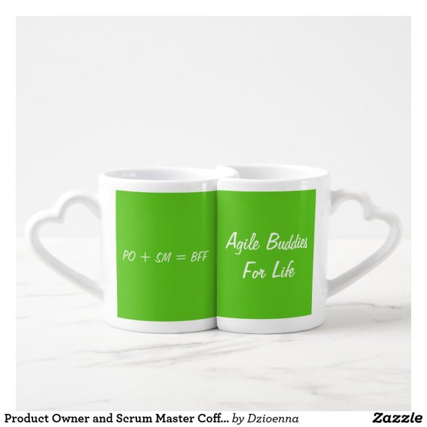 Product Owner and Scrum Master Coffee Mug Pairing