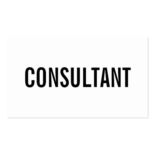Professional bold black and white plain consultant