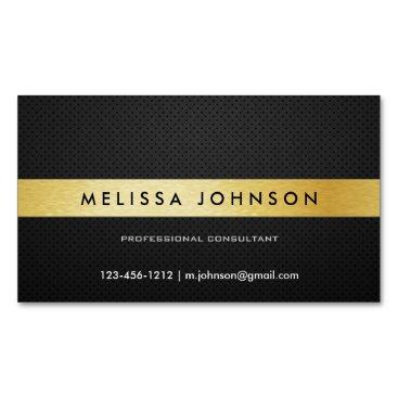 Professional Elegant Modern Black and Gold Magnetic Business Card