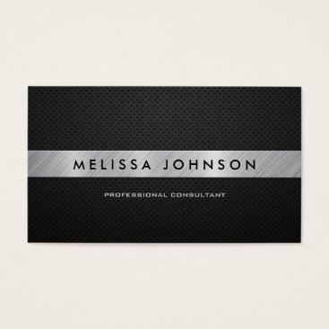 Professional Elegant Modern Black and Silver Business Card