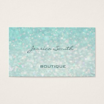 Professional glamorous modern elegant plain bokeh business card