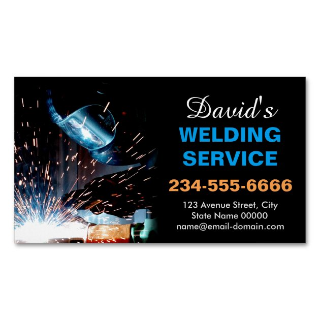 Professional Metal Welding Fabrication Contractor Business Card Magnet  Zazzlecom