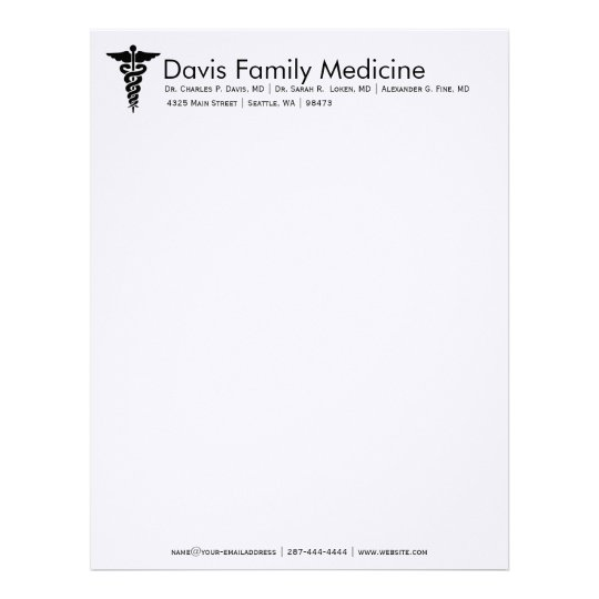 Professional Personalized Doctor's Stationery Zazzle Com