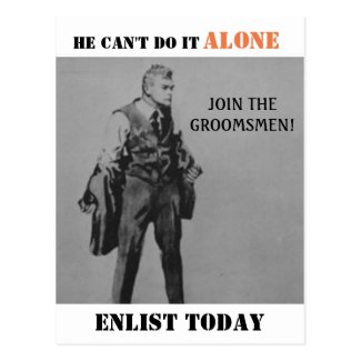 Propaganda Themed Best Man Or Groomsman Invitation Postcard
