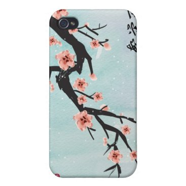 """Prosperity Blossoms"" Chinese Cherry Blossoms iPhone 4/4S Case"