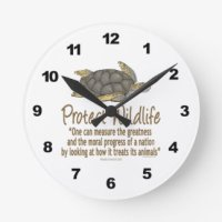 Green Sea Turtle Wall Clocks | Zazzle