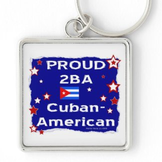 Proud 2BA Cuban-American Key Chains