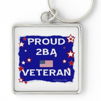 Proud 2BA Veteran Key Chains