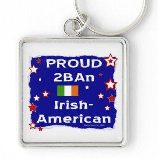 Proud 2BAn Irish-American keychain