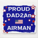 Proud DAD2An Airman - Mousepad mousepad