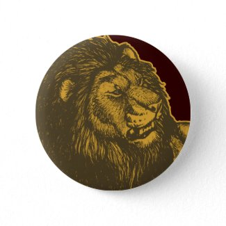 Proud Lion Button Badge button
