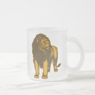 Proud Lion Frosted Mug mug