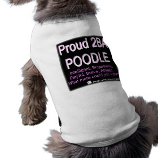 Proud Poodle - (Pink) - Pet Clothing petshirt