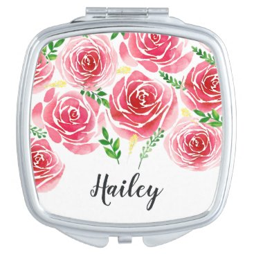 Provence Rose Personalized Mirror For Makeup