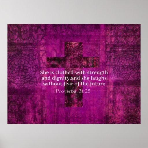 Proverbs 3125 Inspirational Bible Verse Women Poster Zazzle