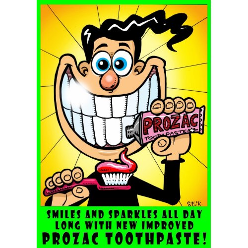 Prozac Toothpaste print