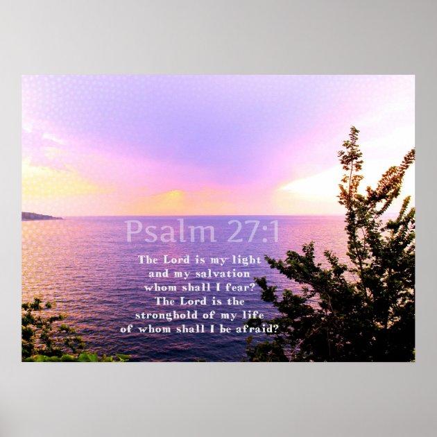Psalm 27:1 INSPIRATIONAL BIBLE VERSE Poster | Zazzle.com