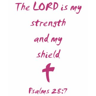 Psalms 28: The Lord is My Strength and Shield shirt