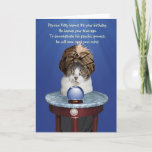 Funny Psychic Kitty Doesn't Talk Like That Birthday Card