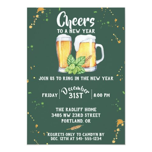 Pub Style New Year's Party Invitation