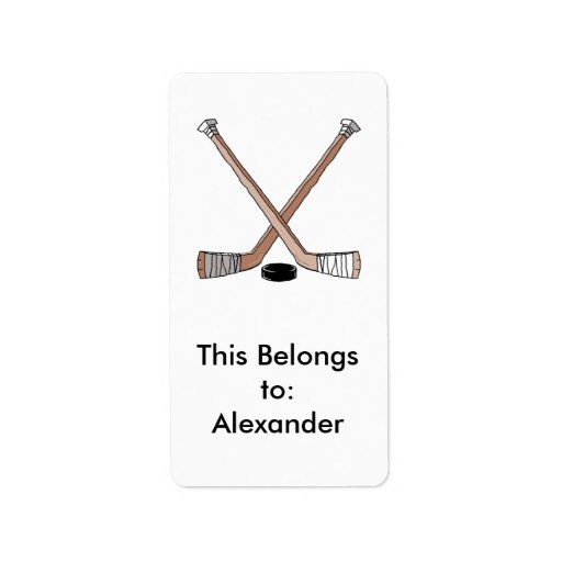 Hockey Puck Labels