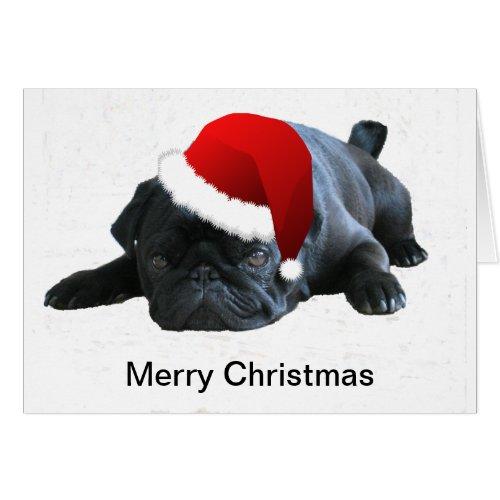 A Popular Pug Christmas Card Design Lous Designs