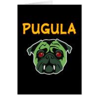 Pugula the Vampire Dog (blank) Card