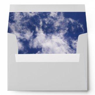 Pulled Cotton Clouds Envelope envelope