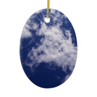 Pulled Cotton Clouds Ornament ornament