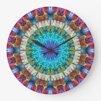 Pulling In kaleidoscope Round Clocks