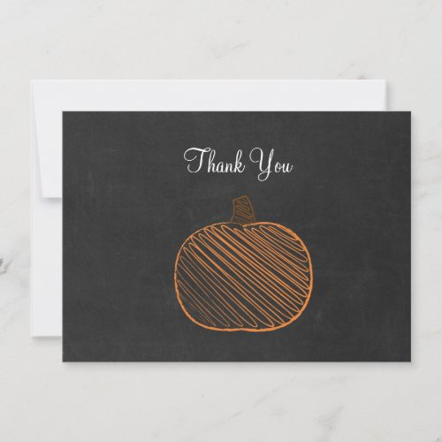 Pumpkin Chalkboard Thank You Cards