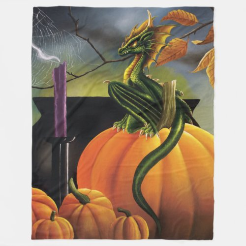 Pumpkin Dragon Fleece Blanket
