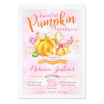 Pumpkin Fall Baby Shower Invitation