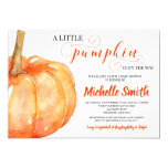 Pumpkin Fall Gender Neutral Autumn Baby Shower Invitation
