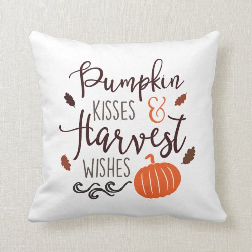 Pumpkin Kissed and Harvest Wishes Pillow